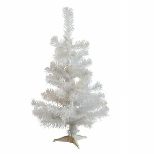 White-Christmas-Tree-Xmas-Artificial-Traditional-Pine-Small-With-Stand-2ft-60cm
