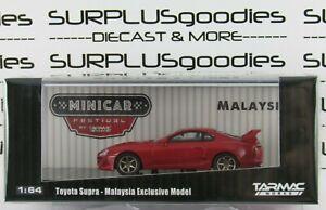 Tarmac-Works-1-64-Hobby64-2018-Malaysia-MiniCar-Festival-Red-TOYOTA-SUPRA-w-Cert