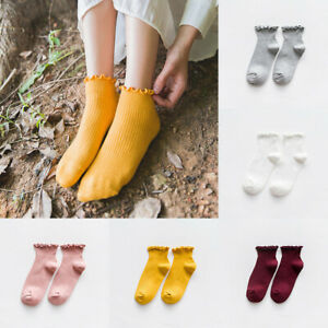 Women/'s Cute Socks Ankle High Casual Cotton Warm Breathable Solid Socks
