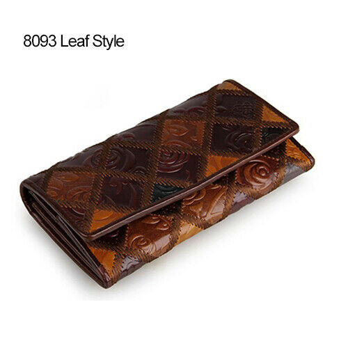 Genuine Leather Purse Women Clutch Vintage Wallet Luxury Designer Gifts For Her