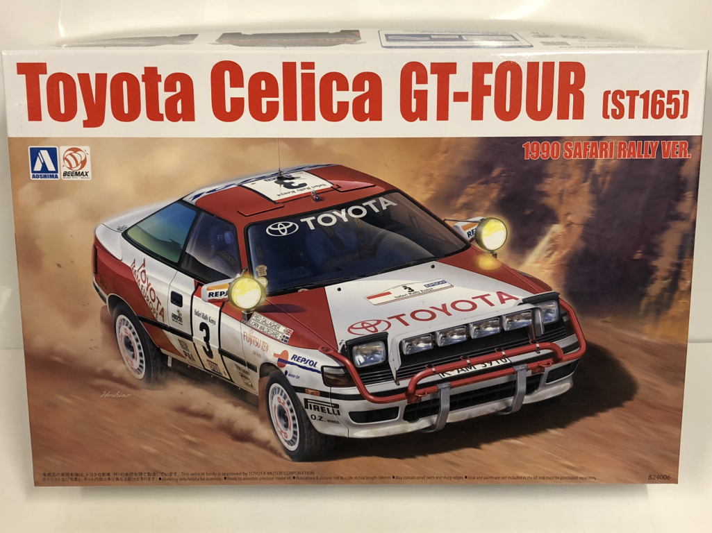 1990 Toyota Celica Gt Four ST165 Rally Safari 1:24 Kit Modello Beemax 24006