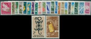 New-Zealand-1960-SG781-802-Flowers-Industry-Carvings-Scenes-set-MNH