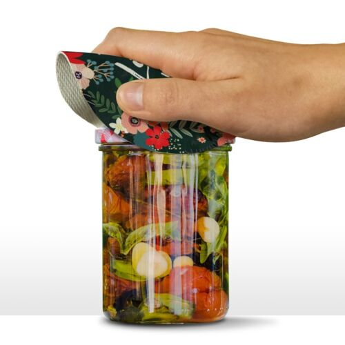 Live with Passion Floral Inspirational Rubber Non-Slip Jar Gripper Opener