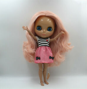 """12/"""" Takara Blythe From factory Nude Doll Jointed Body Green Hair Partial Hair"""