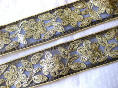 Borte mit Pailletten in verschieden Farben,ca.65mm,lfm,B227