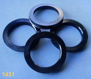 (1431) 4x  Zentrierringe 76,0 / 57,1 mm schwarz / grau für Alufelgen