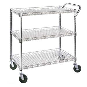 Serving Cart On Wheels Restaurant Dining Room Utility Server Rolling Kitchen Ebay