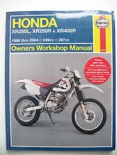 HONDA HAYNES MANUAL XR250 XR 250 XR400 400 XR250L 250L