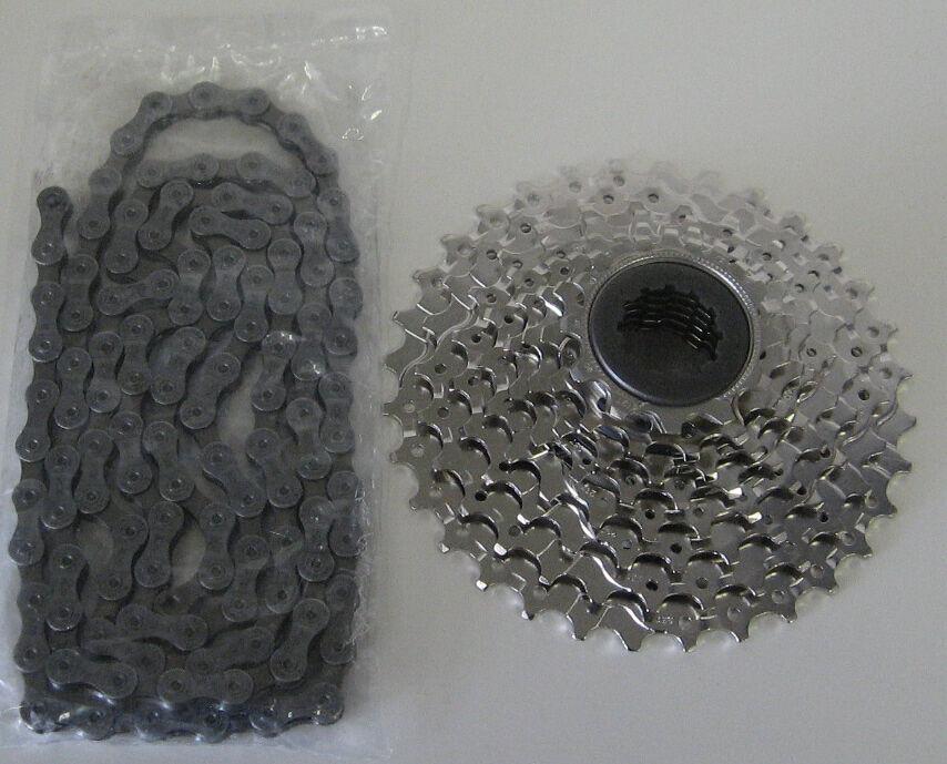 Shimano Deore Verschleißset HG 400 Kette + Zahnkranz Fahrrad 9-Fach 32 Zähne