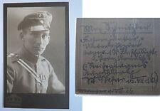 München - 1916 - Max Schnitzler als Student - Soldat mit Orden CDV / Studentika