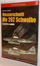 Kagero Top Drawings 2 - Messerschmitt Me 262 Schwalbe A-1a/B-1a Models      Book