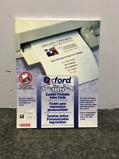 New Sealed Oxford Ruled Index Cards White 4 X 6 Inches 100 Per Pack