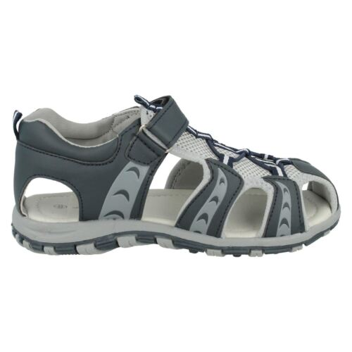 Boys N0040 Navy And Grey Sandals By J C Dees Retail Price £12.99