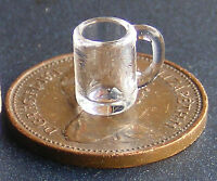 1:12 Beer Mug Tankards (2) Dolls House Miniature Pub Bar Glass Accessory GLA53