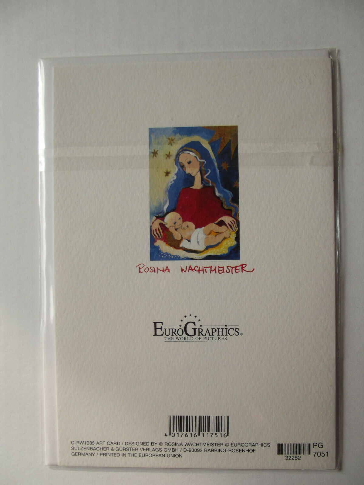 Rosina Wachtmeister Kunstkarte  Bild 12x17,5 Weihnachten #32423