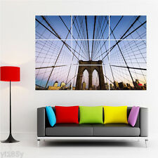 America USA New York City Brooklyn Bridge Poster Giant Large Print ART DECOR