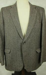 Herrenmode Kleidung & Accessoires Vintage Everlasting Cheviot Frankreich Braun Fischgrätenmuster Wolle Sport Einfach Zu Reparieren