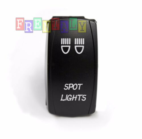 S3 Blue LED Spot Light 12V 20A 10A 5-pin Rocker Waterproof Switch Car Boat