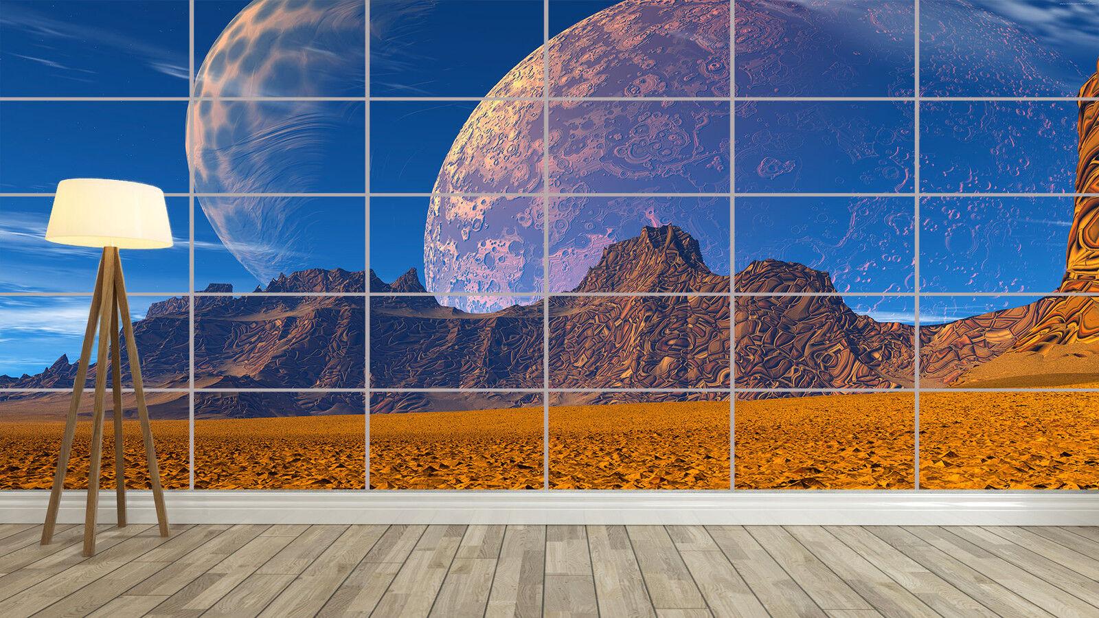 Paysage landschaft digital art geant - poster zu hause 252cmx150 - salon