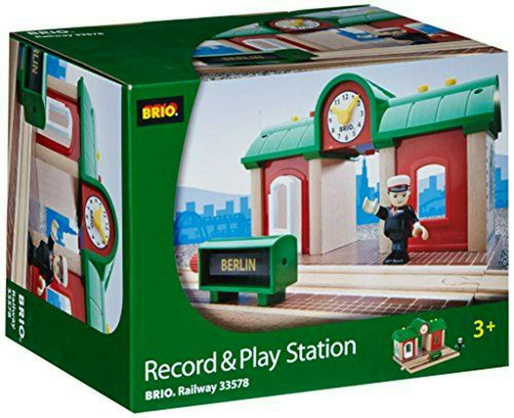 Bonne offre à Noël Brio World 33578 TRAIN Gare Gare Gare Principal à Enregistreur Vocal 9f623c