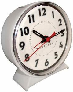 Westclox-White-Alarm-Clock-With-Luminous-Hands-15550