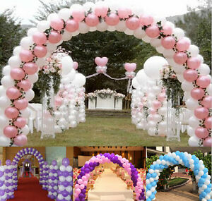 Large deluxe latex balloon arch frame wedding event all for Balloon arch no helium