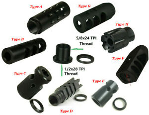 Ruger PC 9 mm 1//2/'/'x28 TPI Low Concussion Tanker Muzzle Brake Compensator