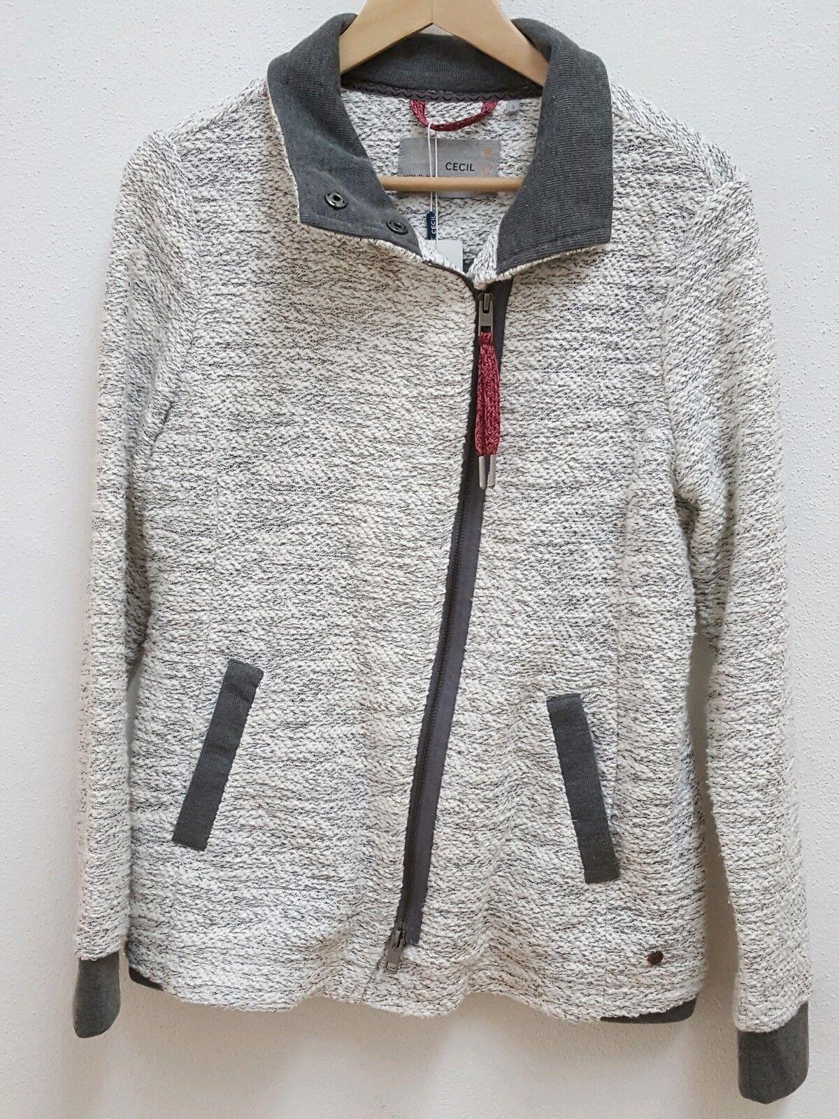 dbe434a3574676 Cecil Strickfleecejacke Jacke Damen grau weiß S NEU Gr.36 meliert  nqcfwx6070-neue Kleidung