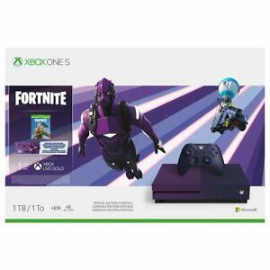 Xbox One S 1TB Console - Fortnite Battle Royale Special Edition Bundle - New