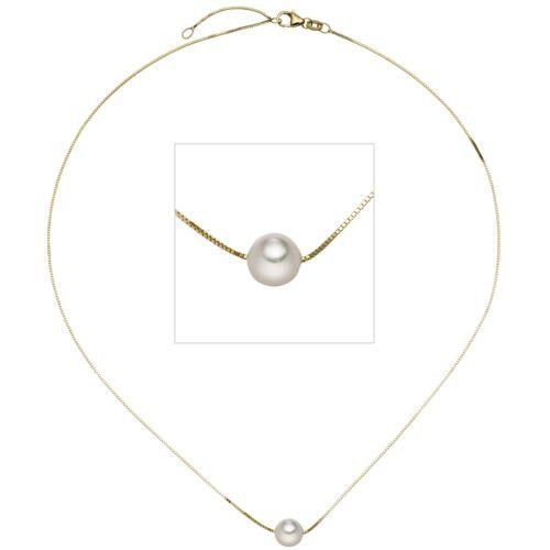 Nuevo colgante venezianerkette perla 45 cm 375er real oro cadena de oro Collier 9 kt
