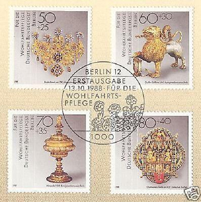 Wohlfahrt Nr 818-821 Mit Sauberem Sonderstempel Streng Berlin 1988 1a Schmiedekunst