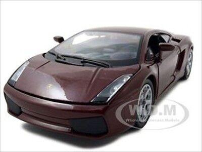LAMBORGHINI GALLARDO BURGUNDY 1/24 DIECAST MODEL CAR BY BBURAGO 22051