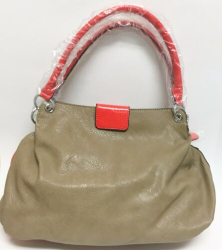 Rouge Kissa guess New Sac À Pierre Sac Cuir Simili Corail Main Skaï Taupe nSFnqdX