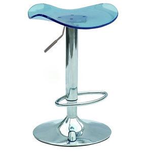Acrylic Swivel Bar Stool Vanity Counter Chair Adjustable