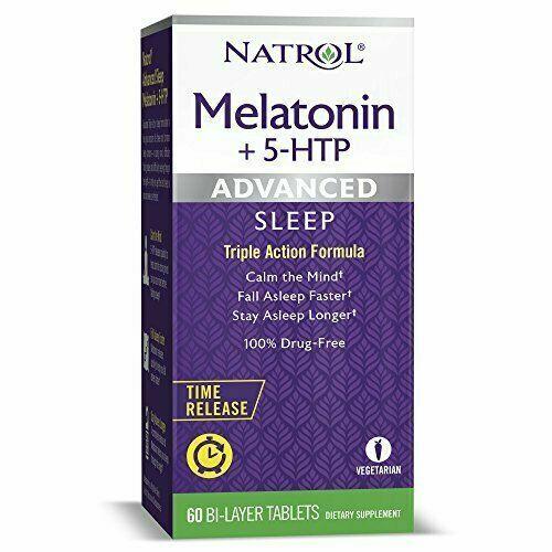 Natrol Melatonin Advanced Sleep & 5-HTP B/L Tab-60