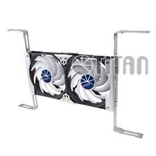2 x 140mm Multi-Purpose Aluminum Rack Fan Kit w/ Speed Control for RV's 12V 24V