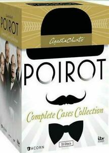Agatha-Christies-Poirot-complete-cas-Collection-DVD-2014-33-Disc-Set-Scelle
