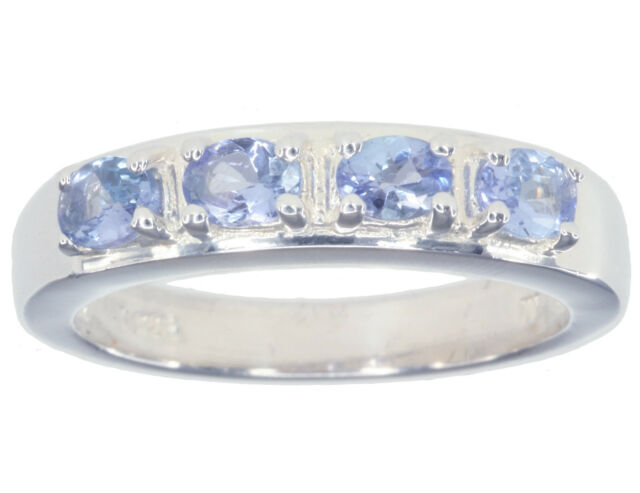 Tanzanite Gemstone Oval Sterling Silver Ring