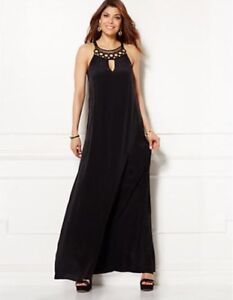 Eva Mendes New York Company Crochet Neck Maxi Dress Sz Xsmall Xs