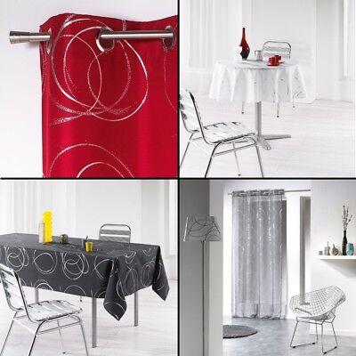 Silver Spirali Ready Made Home Collection-curtain Panel Mats Tovaglie-mostra Il Titolo Originale