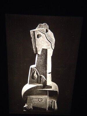 "Motivated Henri Laurens ""woman With Guitar"" French Sculpture 35mm Art Slide Art"