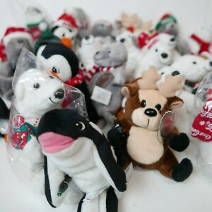 Huge-Lot-of-29-Collectibles-Coca-Cola-brand-Bean-Bag-Plush-1998-stuffed-animals