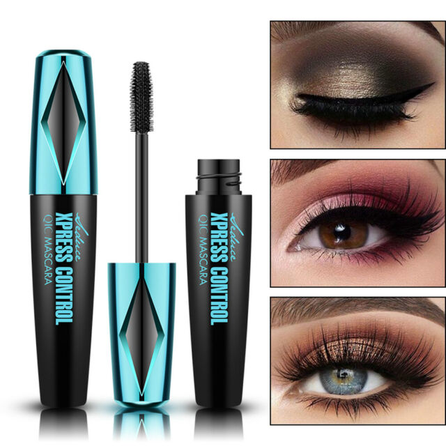 Sexy 4D Silk Fiber Eyelash Mascara Extension Makeup Waterproof Eye Lashes Black