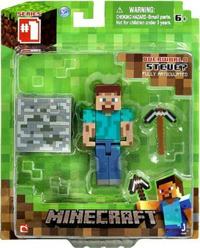 Minecraft Overworld Series 1 Steve Fully Articulated Action Figure
