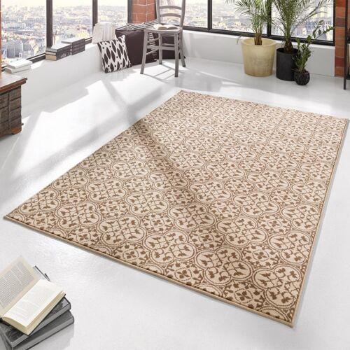 Designer Velours Teppich Pattern Braun Creme102413