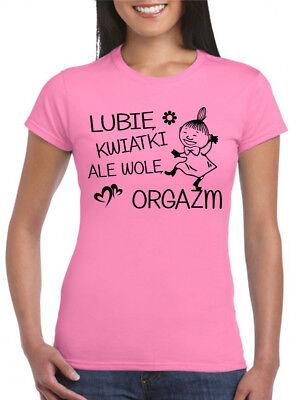 DZIEŃ DOBRY MAŁA MI Damska Koszulka Polska Super Koszulki Polski Muminki Prezent