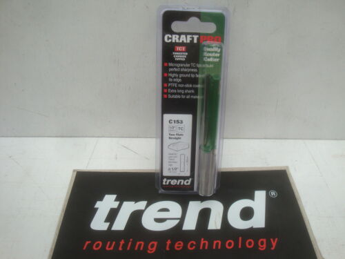 """TREND C153 TCT 12.7 mm x 50 mm plan de travail cuisine routeur Cutter Bit 1//2/"""" Shank"""