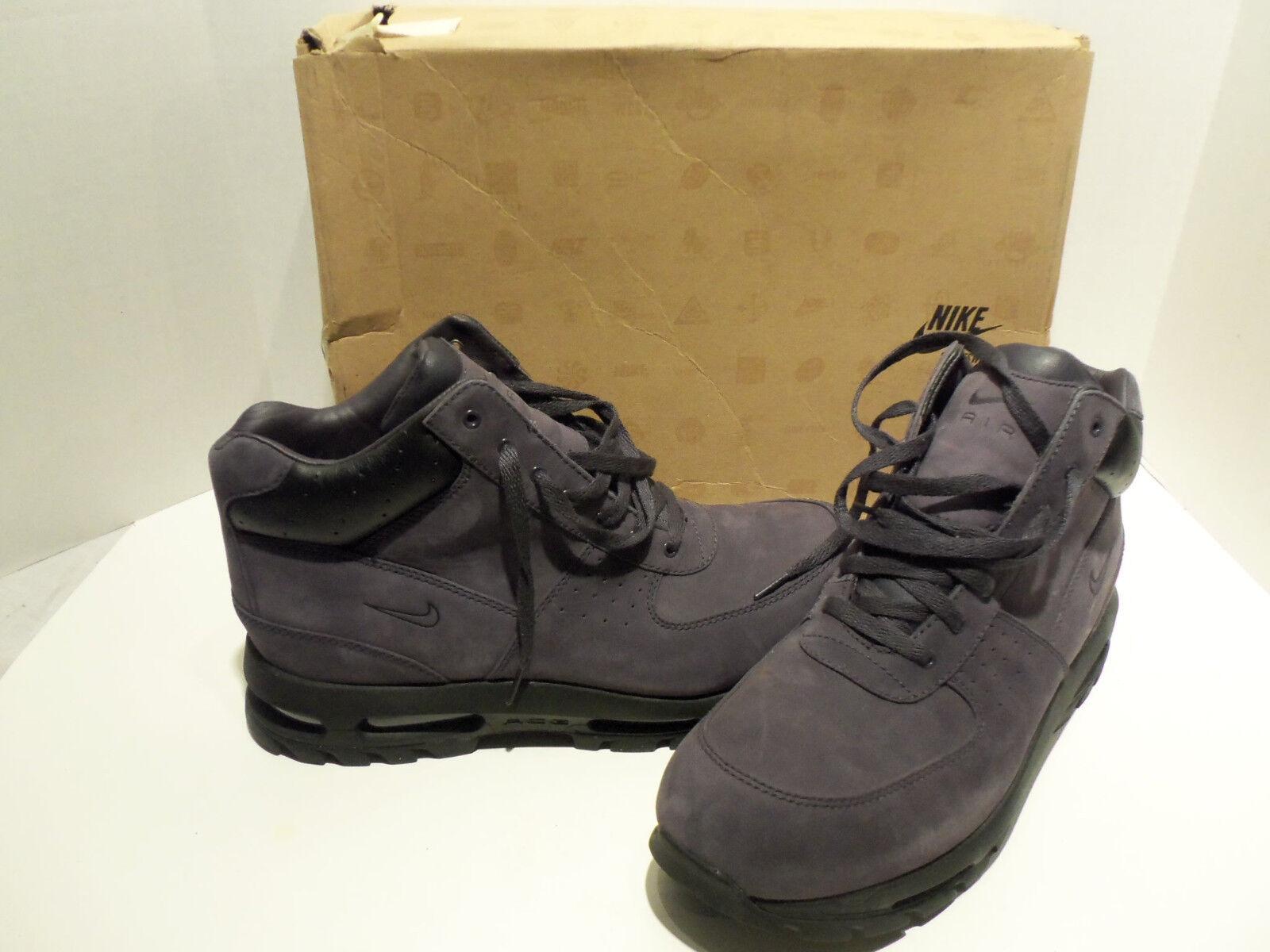 Nike air max goadome tt tutti quei acg viola stivali neri scarpe taglia: 13 noi 12 uk