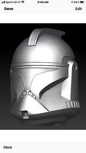 Star wars Commander Cody  helmet custom head sculpt hasbro black series