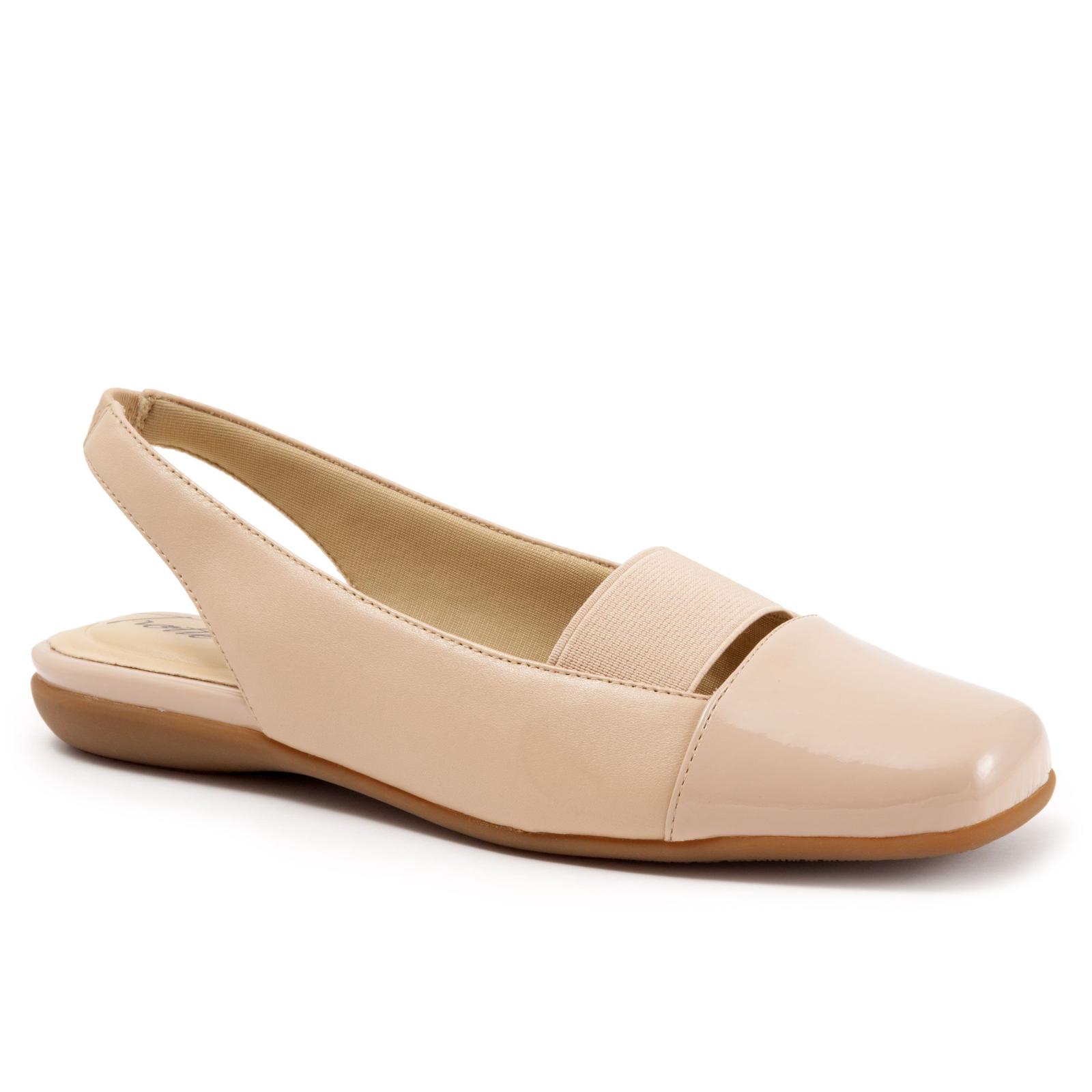 Damens's Trotters Sarina 9 Slingback Schuhe Nude Größe 9 Sarina Wide #NHHP0-M412 b03a32